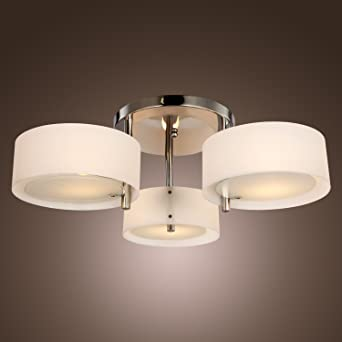 Saint Mossireg Modern Acrylic Flush Chandelier Ceiling Lights For Living Room Bedroom With 3