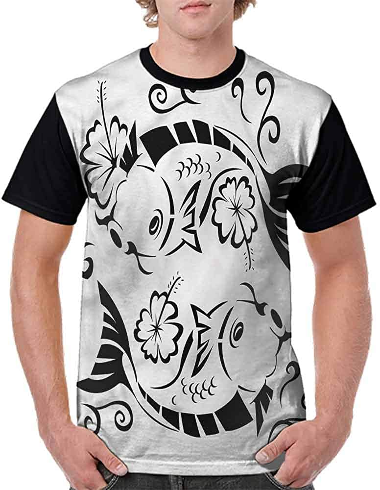 Trend t-Shirt,Blooming Floral Tree Branch Fashion Personality Customization