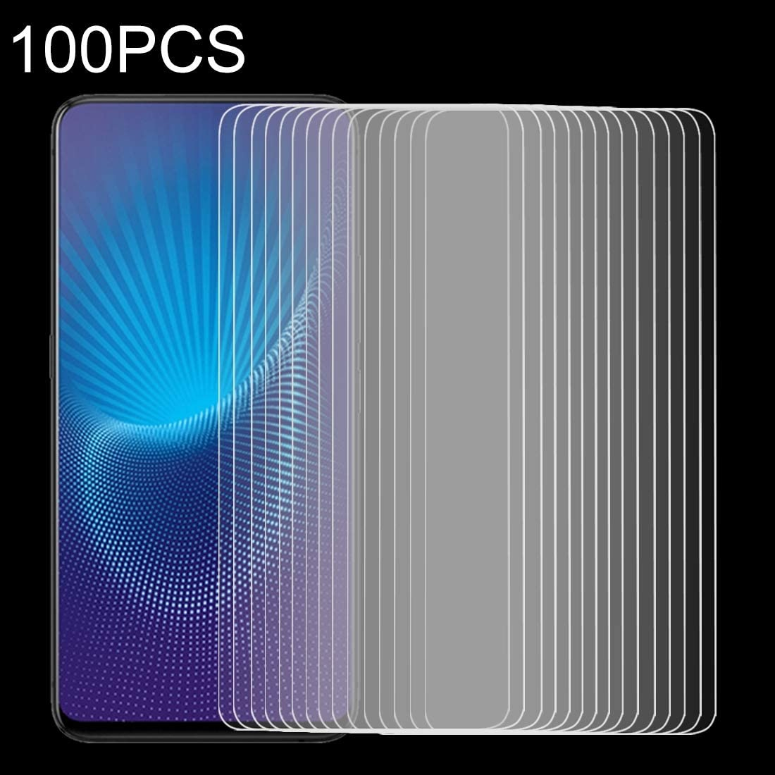 CAIFENG Tempered Glass Film Screen Protector 100 PCS 9H 2.5D Tempered Glass Film for Lenovo Viber P1m Anti-Scratch