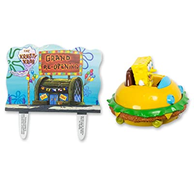 DecoPac SpongeBob SquarePants Krabby Patty Cake Topper Set: Toys & Games