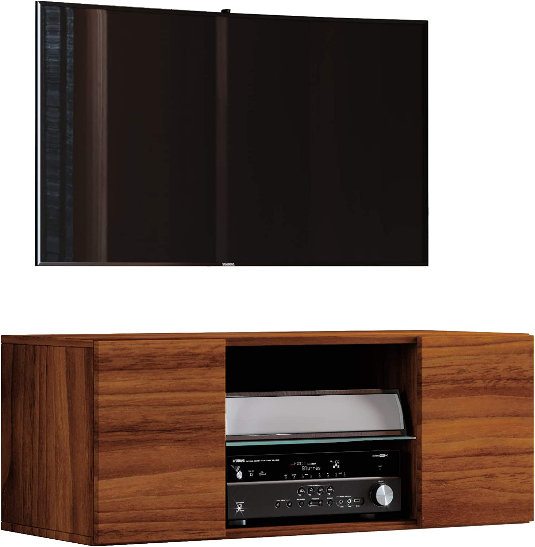 VCM jusa 95 – Mueble TV, Madera, corazón de Nogal, 40 x 95 x 36 cm ...