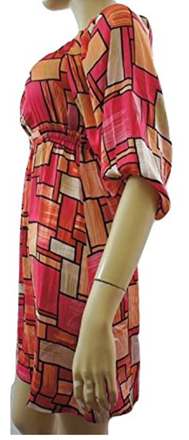 H&M Red Orange Pink Square Print Dress - UK SIZE 6: Amazon.co.uk: Clothing