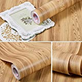 SimpleLife4U Cherry Wood Grain Contact Paper Peel & Stick Shelf Liner Renew Flat House Old Multimedia Storage Tower 17.7 Inch By 9.8 Feet
