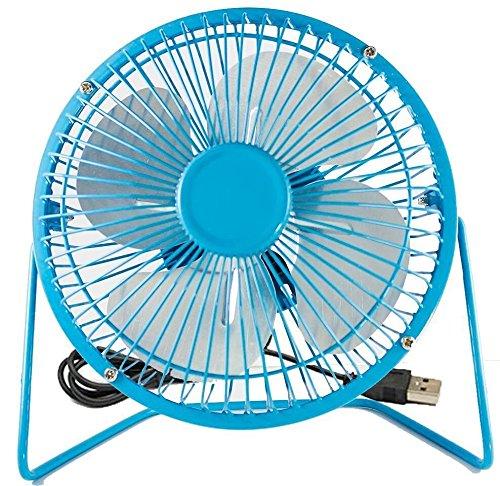 Elecbrain¨ USB Desk Fan (Powerful Airflow/ A Free Adapter) 4inch Personal Mini Fan - Small Table Fan with Pedestal
