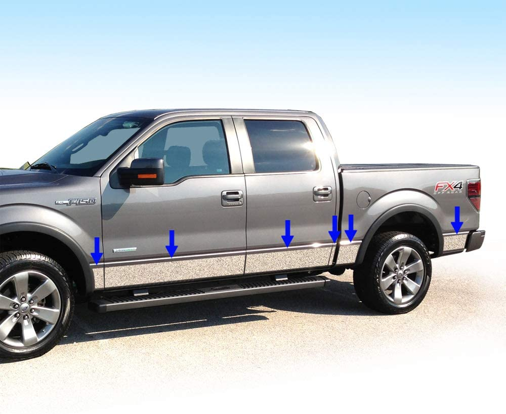 "TYGER For 09-14 Ford F150 Tailgate Insert Platinum Model Panel Trim 1/"" Wide 7PC"