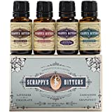 Scrappy's Bitters Exotic Bitters Mini Set, 4 ct, 0.5 oz (Lavender, Chocolate, Cardamom, and Grapefruit)