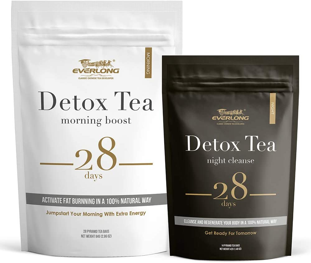 Detox Tea 28 Day Ultimate Teatox - Burn Fat and Boost Your Energy, Colon Cleanse and Flat Belly, Activate Immune System and Accelerate Healthful Weight Loss