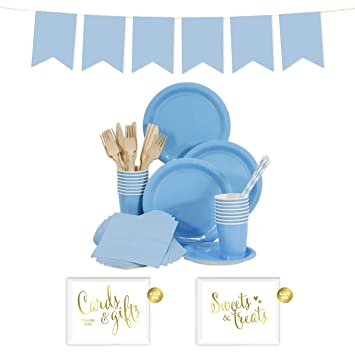 Andaz Press Complete 70-Piece Tableware Kit for 8 Guests Baby Blue Includes  sc 1 st  Amazon.com & Amazon.com: Andaz Press Complete 70-Piece Tableware Kit for 8 Guests ...