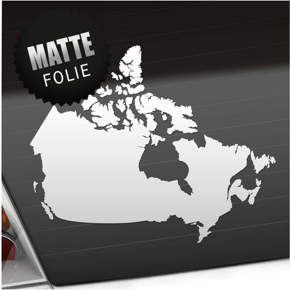 Kiwistar Kanada Umriss Kontur Aufkleber Sticker 25 Farben Neon Matt Auto
