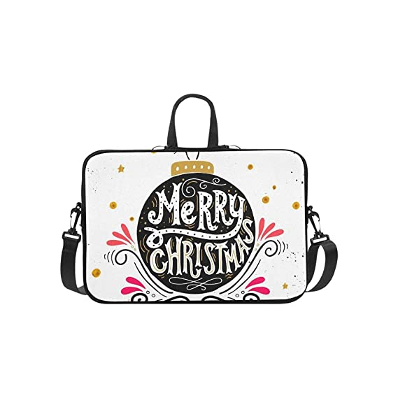 Feliz Navidad Retro Cartel Mano Letras Patrón Maletín ...