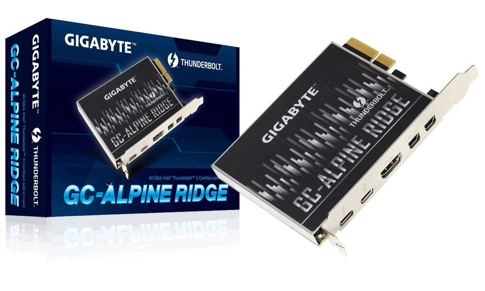 GIGABYTE (Alpine Ridge Thunderbolt 3 PCIe Card Components Other GC-Alpine Ridge by GIGABYTE