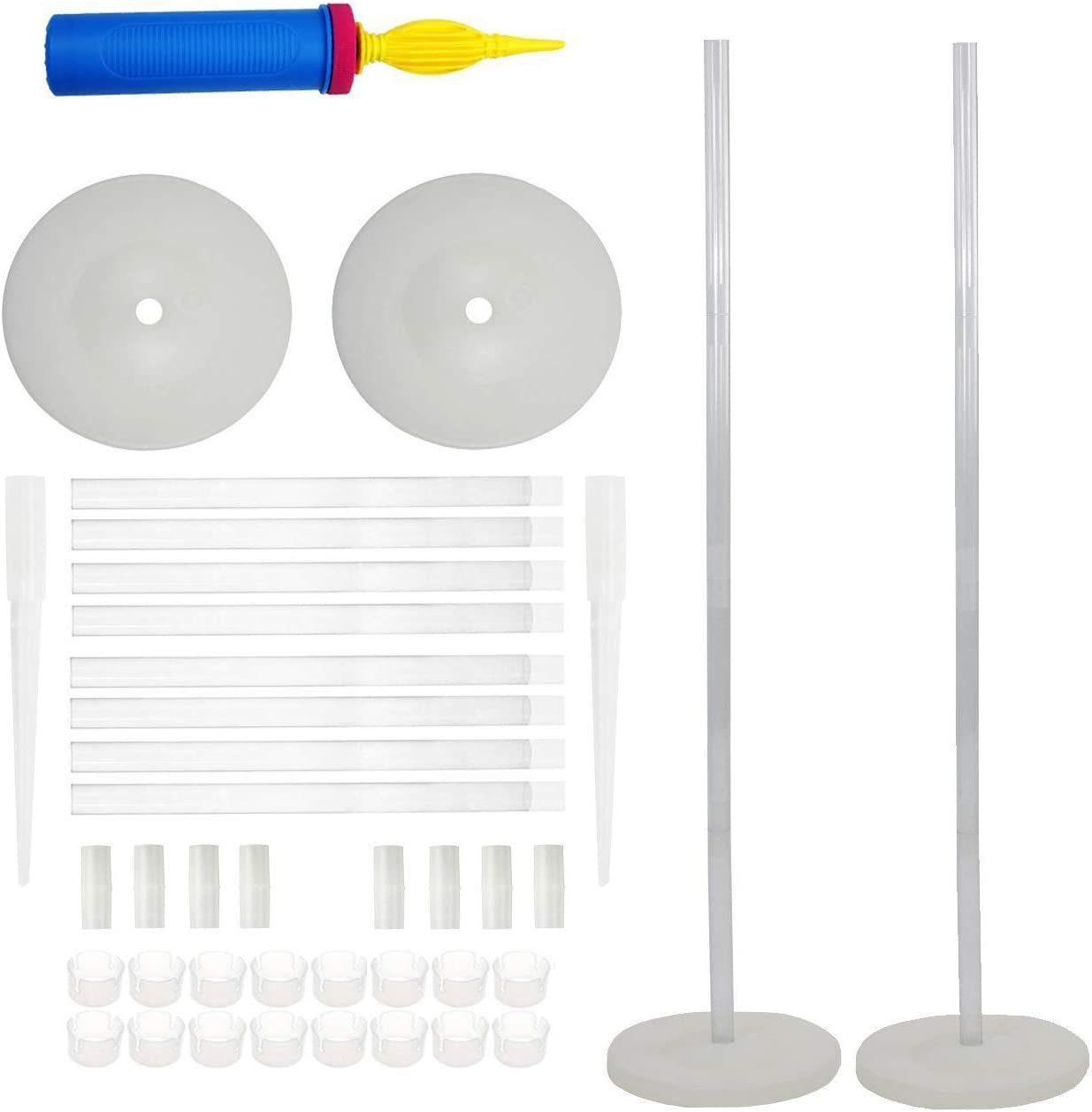 LANGXUN 2 Sets 50-inch High DIY Balloon Column Stand Kits For Birthday Decorations, Wedding Decorations, Party Decorations, Christmas Balloon Decorations (Column Stand)