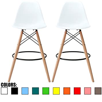 2xhome   Set Of Two (2)   White   28u0026quot; Seat Height Eames