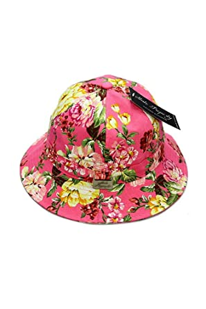 State Property Bucket Cap Floral Pink   Pink - One Size  Amazon.co.uk   Clothing 5a101cac1c34