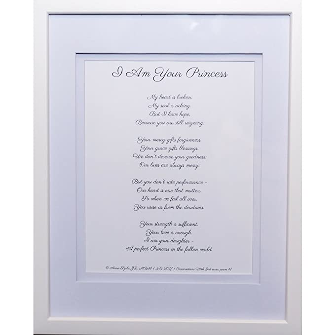 Christian Poems by Anna Szabo #PoemsFromGod I am a princess framed poetry for Prayer Hallway