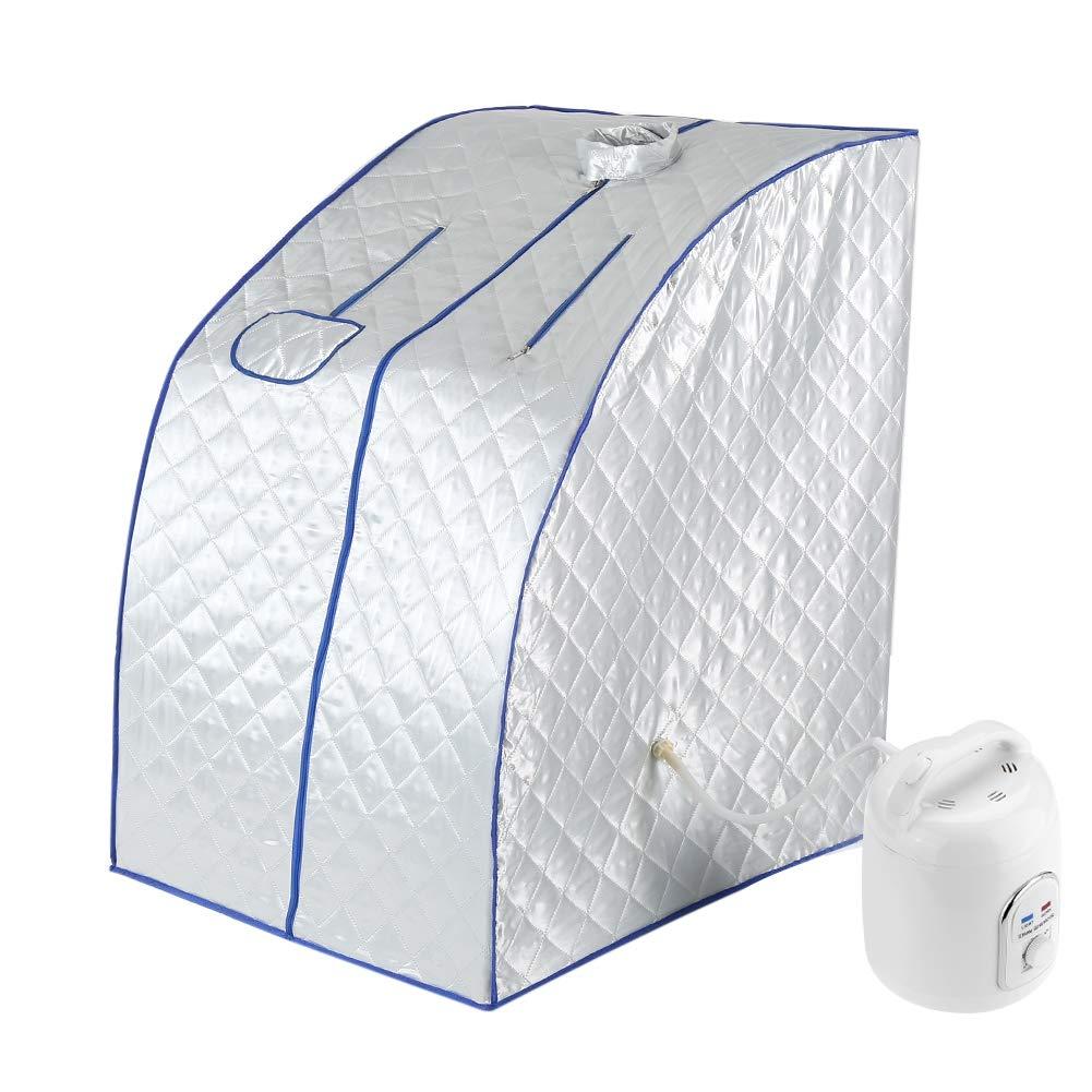 1.8L Sauna Vapeur Portable Pot À Domicile Spa Personnel Chauffe Tente Léger Pot de Tente Amincissant Thérapie de Désintoxication de Poids de Perte pour Corps Minceur Relaxation à la maison Sauna Maiso(220V) Garosa
