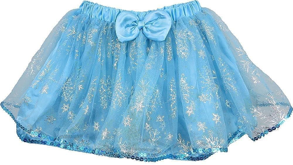 wenchoice Girls Baby Blue /& Silver Snowflake Tutu