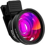 Handy Objektiv, ZOETOUCH 2 in 1 Clip-On 0.45X Super Weitwinkel Objektiv + 12.5X Macro Objektiv Handy Objektiv iphone Kamera Objektiv Kits für iPhone 6 6S 6s plus, 7, Samsung Galaxy/Note & Die meisten
