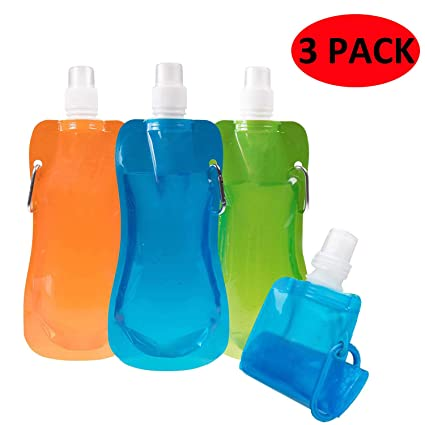 New Flexible Collapsible Foldable Reusable Water Bottles Ice Bag Outdoor Sport
