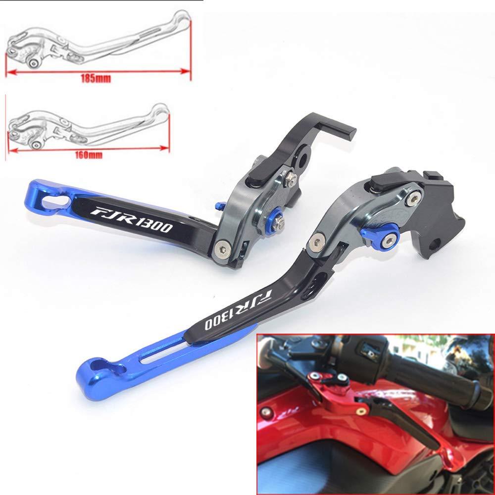CNC Extendable Folding Motorcycle Adjustment Brake Clutch Levers For YAMAHA FJR1300 2004-2017