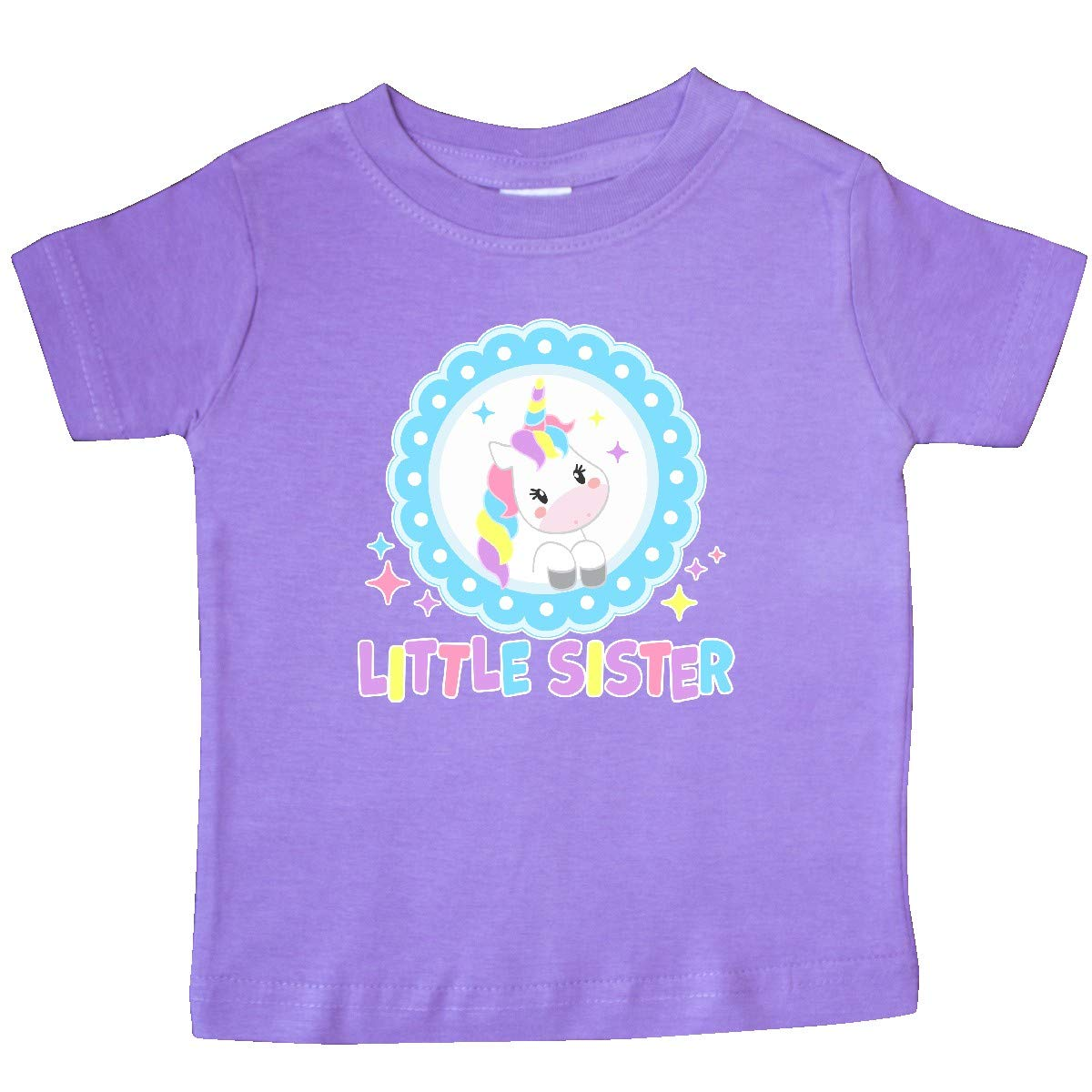 inktastic Little Sister Cute Unicorn Baby T-Shirt