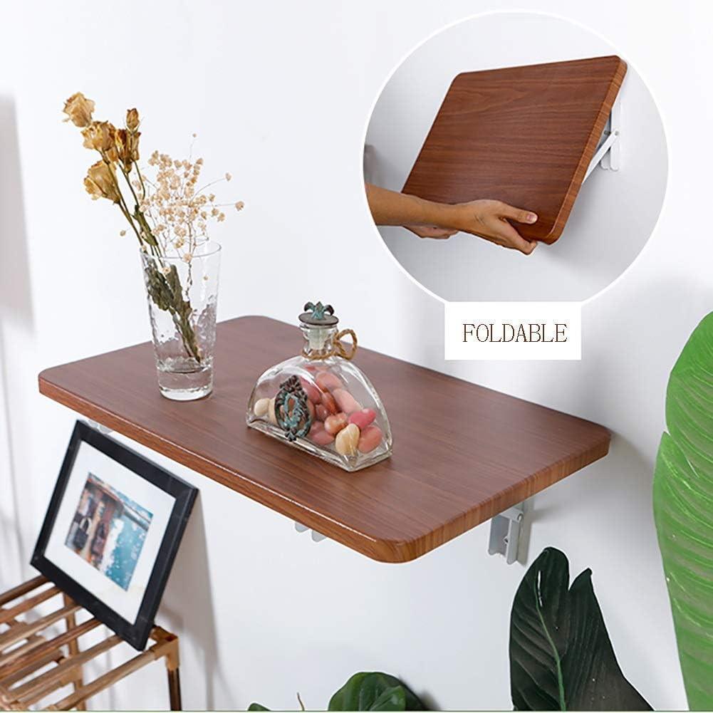 ウッドドロップリーフテーブル、折りたたみ式ウォールマウントバーテーブルコンピューターワークベンチスタディデスク、スペース節約、パンチまたはパンチフリー(サイズ:40× 26cm)