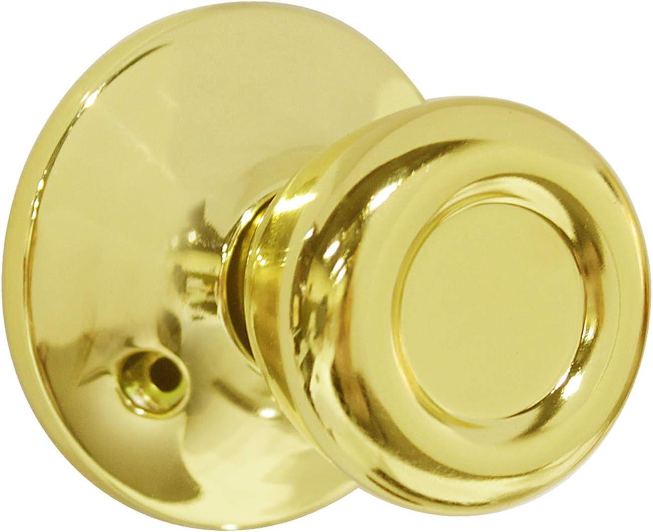 para puerta de seguridad interior de almacenamiento ba/ño dormitorio Pomo de puerta con acabado de lat/ón pulido