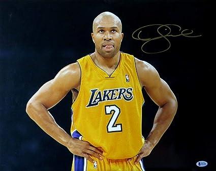 09d348ba8bb Derek Fisher Autographed Signed Memorabilia 16X20 Photograph La Lakers Edge  Crease Beckett I81726