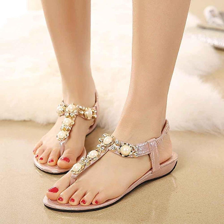 Ouneed® Flip Flops Damen Erwachsene Zehentrenner , Damen Sandalen Mode Kristall Sandelholz Frauen Schuhe Sommer Schuhe Freizeit Sandalen (38, Rosa)