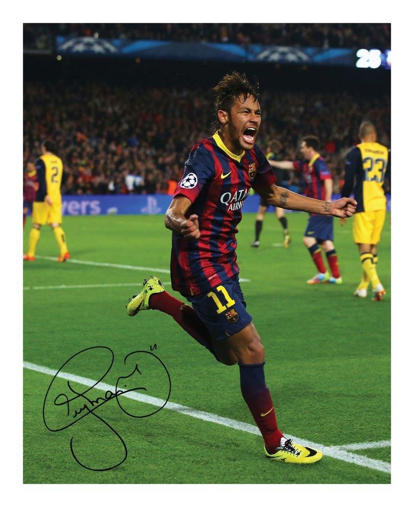 Neymar JR - Barcelona Signed Autographed 8 x 10 Photo