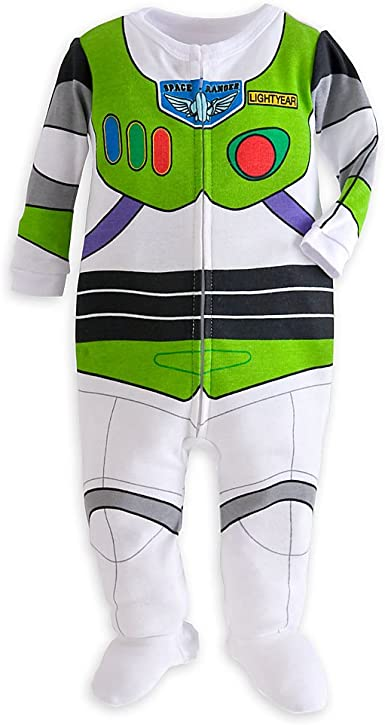 Disney Pixar Toy Story Buzz Lightyear Baby Boy Zip-Up Costume Coverall