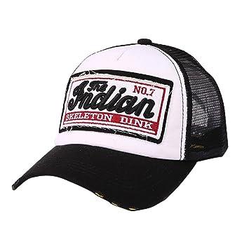 LMMVP Gorra de Béisbol de Malla Deportiva,Gorra para Hombre Mujer Sombreros de Verano Gorras de Camionero de Hip Hop Impresión Bordada, Talla única (A): ...