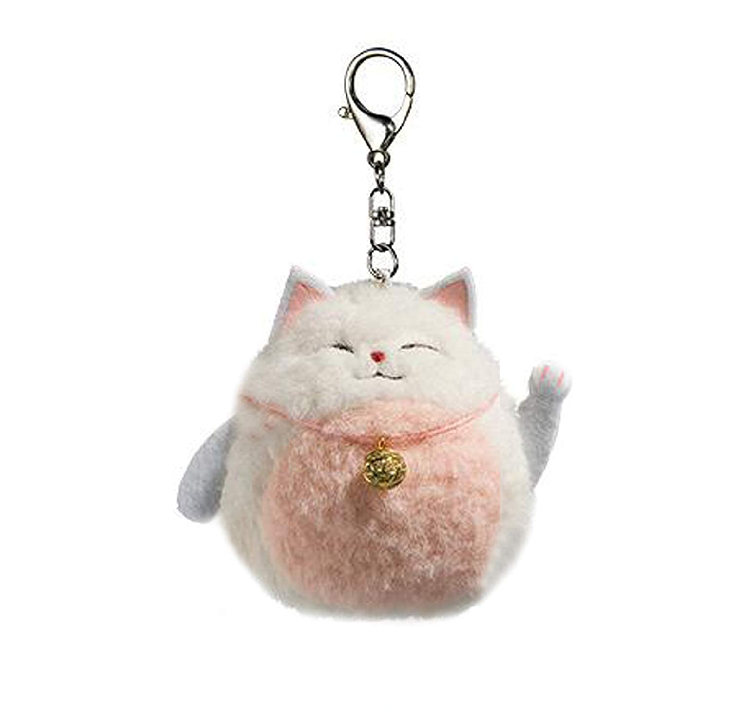 Plush Cat Keychain Stuffed Animal Toys Ornaments Pendant Lucky Kitty Pink 4 Smilesky