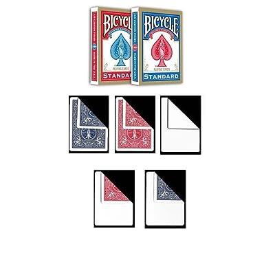 2 barajas de cartas Bicycle Standard Index + 10 Gaff cards: Juguetes y juegos