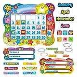 Trend Star Calendar Bulletin Board Set, Stars, 31 1/2'' x 26'' (T8194)