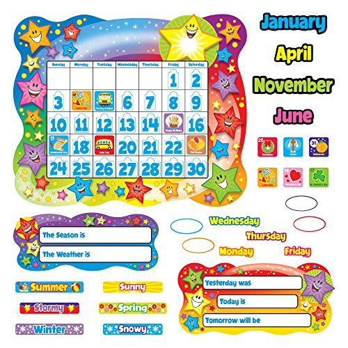 - TREND enterprises, Inc. T-8194BN Star Calendar Bulletin Board Set, Pack of 2 Sets
