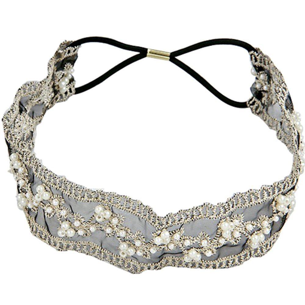 Bandeau Bande De Cheveux De La Tête Perles Dentelle Style Mode Sanwood SHOMPF3466