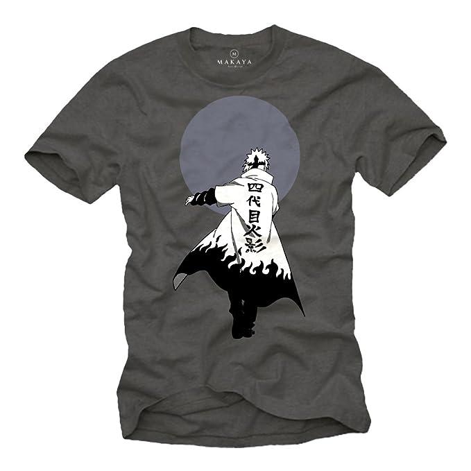 Regalos Nerd - Camiseta Manga Corta - Naru Ninja Anime T-Shirt