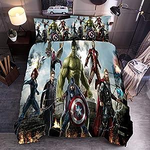 3D Avengers Movie Duvet Cover Set 2019 Most Popular Movie Marvel Avengers Bedding Set Children Adult Favorite 100% Microfiber Bed Set Style12 Queen