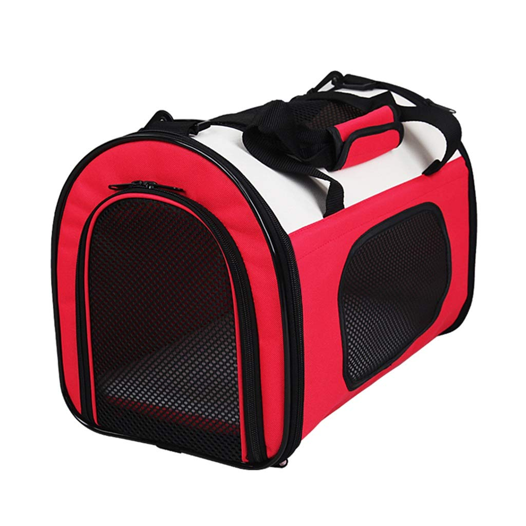 Pet Carrier for Small Dogs, Cats, Puppy, Airline Approved Portable Carrier Bag for Airline, Train, Travel Friendly (50×30×33cm) Red