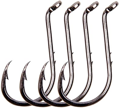 Saltwater Baitholder Size 4//0 Fishing Hooks