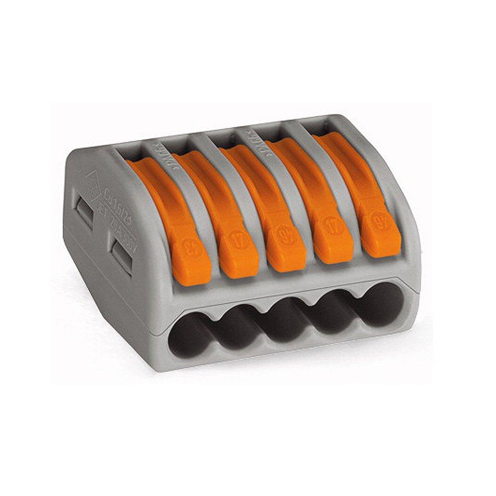 10 unidades de Wago bornes de conexi/ón 5 conductores mm/² 0,8-2,5 con palanca de accionamiento