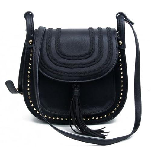 b1da15b131 LeahWard Soft Tassel Bags For Women Nice Cross Body Bag Women s Shoulder  Handbags CW2027 (BLACK