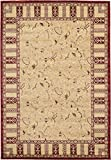 Country Traditional 7 feet by 10 feet (7' x 10') Versailles Beige Area Rug