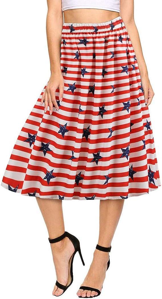 Faldas Cortas Volantes Kawaii, Mujeres de la Moda de la Bandera ...