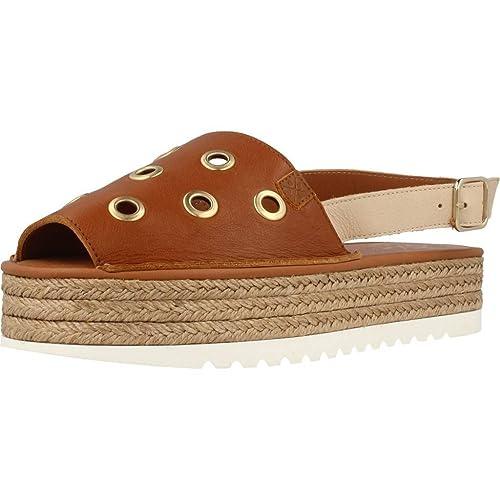 Alpargatas para Mujer, Color marrón, Marca MENORQUINAS POPA, Modelo Alpargatas para Mujer MENORQUINAS POPA FUSTE Marrón: Amazon.es: Zapatos y complementos