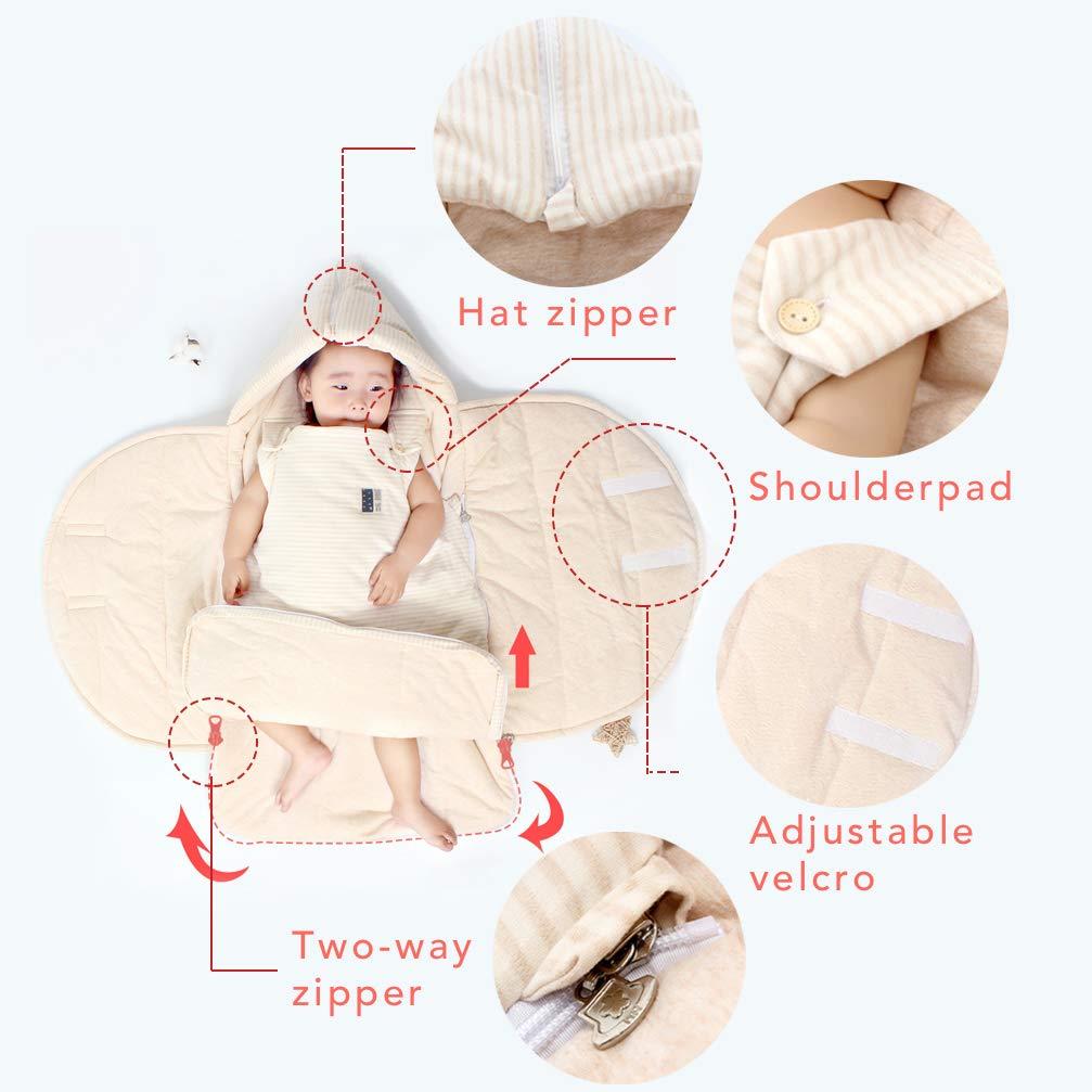Rufun Schlafsack Baby Neugeborene Warme Decke Anti-Kick Gelb, 100# Weicher Baumwolle Doppelschieber Rei/ßverschluss