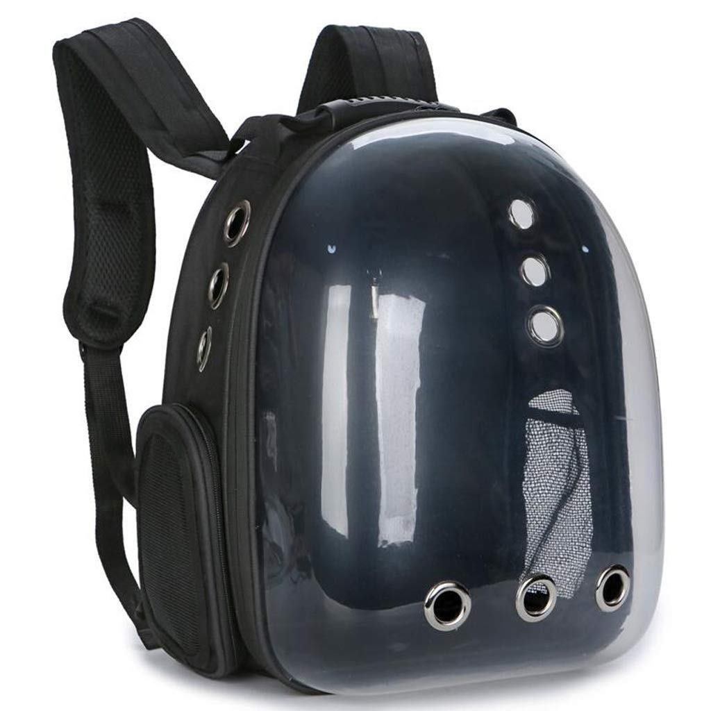 Black Pet Backpack Portable Travel Breathable Backpack Space Capsule Foam Design For Cats, Dogs And Other Pets