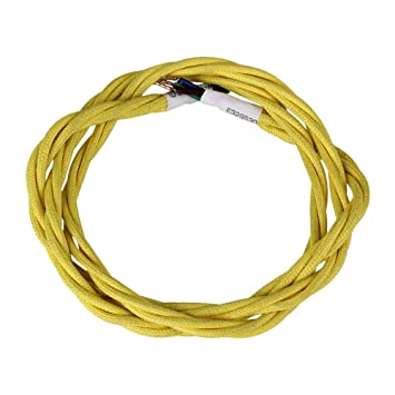bqlzr gelb 1 Meter PVC three-core Twisted Stoff geflochten Flex ...