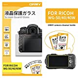 ORMY Tempered Glass Camera Screen Guard for RICOH WG-50 / WG-40 / WG-40W...